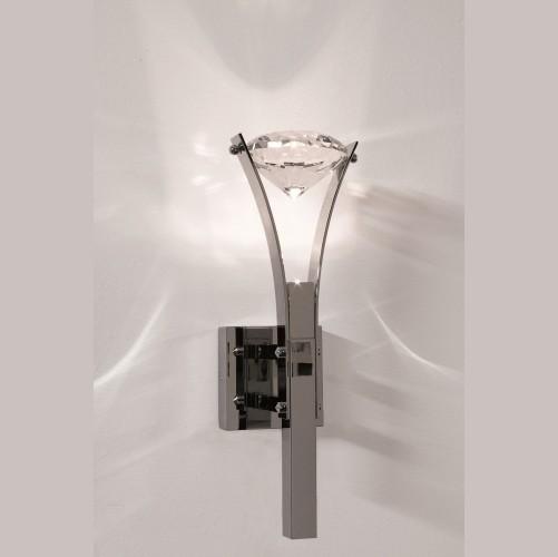 Бра из латуни, покрытой хромом и с кристаллом Swarovski, артикул W1 6280