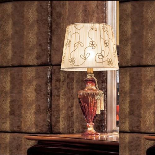 Лампа настольная из золота с янтарным стеклянным декором Il Paralume Marina, артикул L133/6