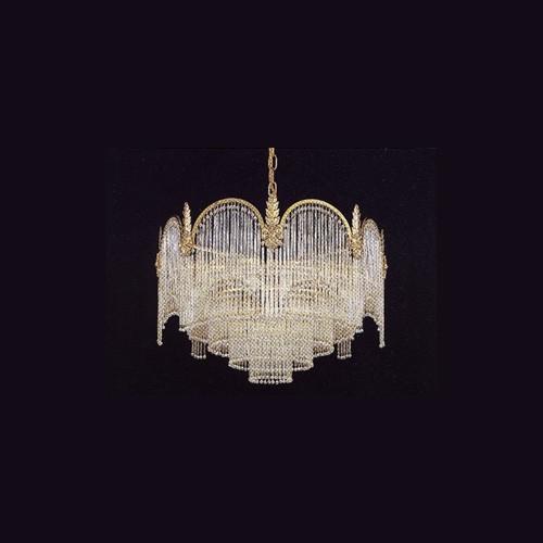 Люстра (золото, хрусталь, стекло) FAUSTIG, артикул 20100/55 G