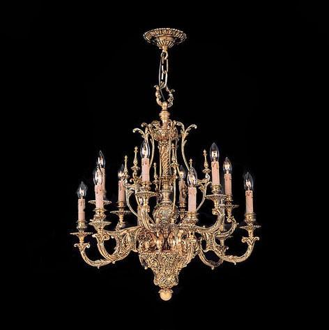 Люстра классическая Valencia Lighting, покрытая золотом 24 карата, артикул 24510