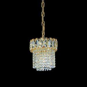 Круглая хрустальная люстра Faustig с кристаллами разного размера, артикул 24000/12 Gold