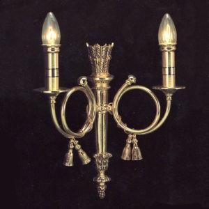 Настенное золотое бра Valencia Lighting, покрытое резным объёмным рисунком, артикул 742