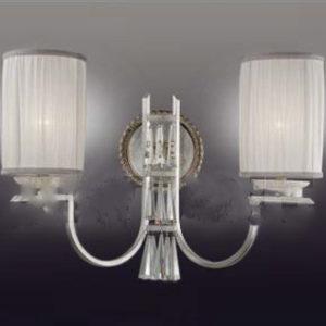Бра светильник белый с прозрачным хрусталем ACF