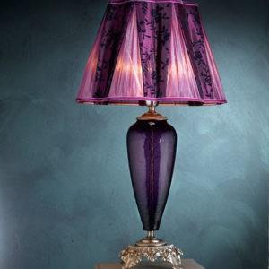 Настольная лампа итальянская фиолетовая EUROLUCE LAMPADARI, артикул 102004D/LP1L BAROCCO