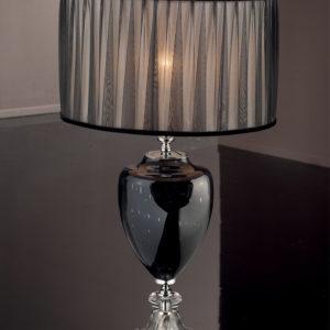 Настольная лампа, черный абажур, EUROLUCE LAMPADARI, артикул 272/LG1L BCH