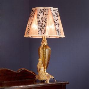 Маленькая настольная лампа золотистая EUROLUCE LAMPADARI, артикул Barocco/LP1L A