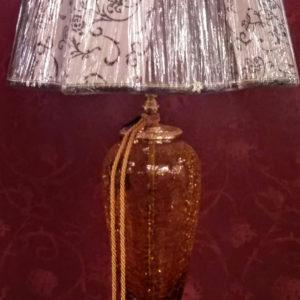 Коричневая настольная лампа с бежевым абажуром EUROLUCE LAMPADARI, Lady/LG1LA special
