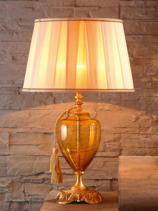 Настольная лампа с абажуром в стиле Прованс EUROLUCE LAMPADARI, артикул LuigiXV/LG1L A