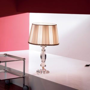 Настольная лампа с розовым стеклом EUROLUCE LAMPADARI, артикул Midha/LG1LC