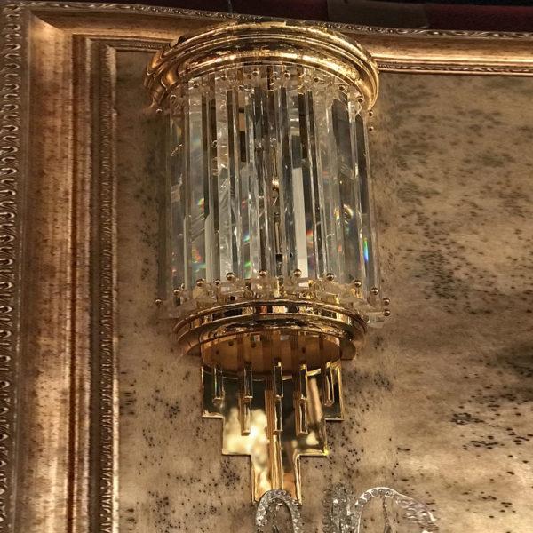 Бра из позолоченного металла с хрусталем Kalmar, артикул wl14908
