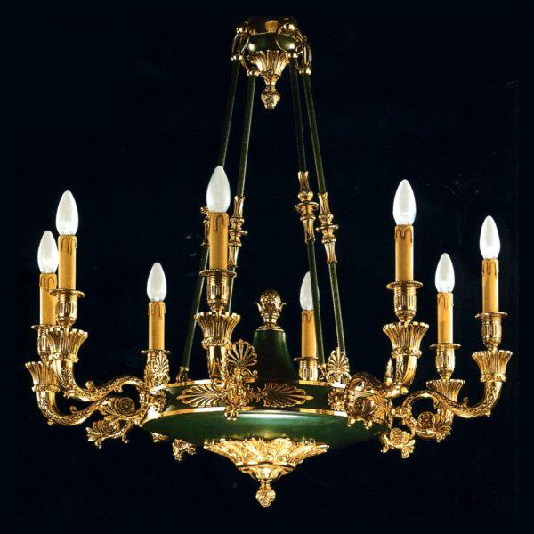 Золотая классическая итальянская люстра Moscatelli, патина с золотом, артикул 22567/8 F/C