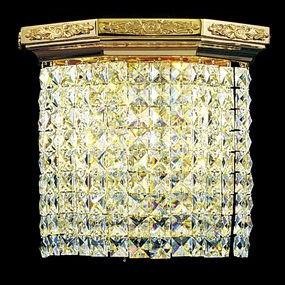 Золотой настенный светильник с хрусталем FAUSTIG, 23235.5/2G