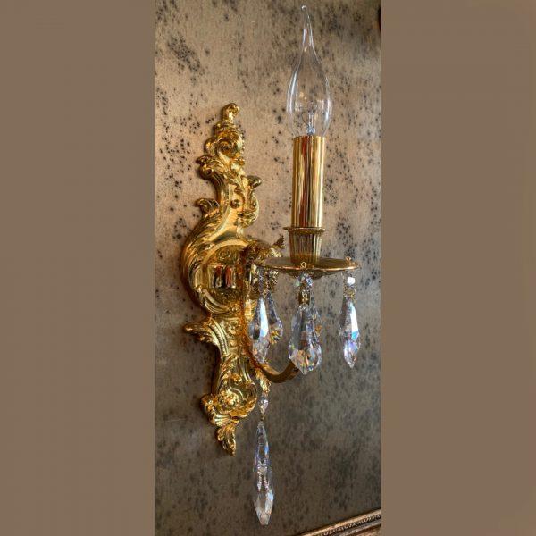 Бра с хрустальным декором золотого цвета FAUSTIG, артикул 25833.5/1GC