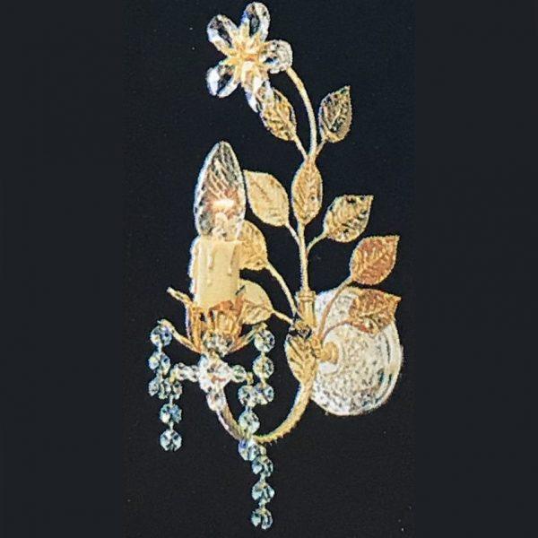 Бра FAUSTIG с позолоченными листьями в интернет магазине светильников Фламинго, артикул 30300.5/1G