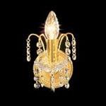 Бра FAUSTIG классическое с хрусталем в стиле классика с хрупкими сверкающими подвесками из хрусталя Swarovski Spectra, артикул 35001.5/1N