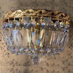 Настенный светильник Faustig с золотом и хрустальными кристаллами Сваровски, артикул 35126.5/2G