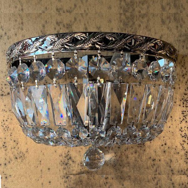 Бра никель и хрустальные кристаллы Swarovski Spectra, артикул 35126.5/2N