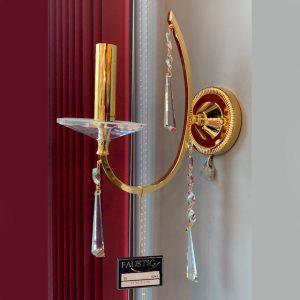 Светильник (бра) с золотом и хрусталем FAUSTIG, артикул 351621.5/1G