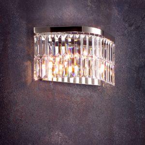 Бра хрустальный современный FAUSTIG, граненые хрустальные кристаллы Swarovski Elements, артикулы 55070.5/3N