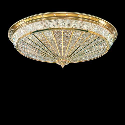 Потолочный светильник, покрытый чистым золотом с огромным количеством кристаллов Swarovski Elements, 92020.7/120G