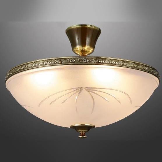 Классический потолочный светильник для комнаты, каркас из бронзы, розовое сатинированное стекло, артикул C/5L