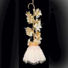 Кружевная люстра Pataviumart с золотистыми и белыми цветами из муранского стекла, артикул CH0830/01 AI16