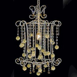 Позолоченная люстра Pataviumart, прозрачный хрусталь и муранское стекло, артикул CH0950/01AS28
