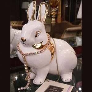 Статуэтка заяц с позолотой Ahura, SR1432C/B1/AOLY
