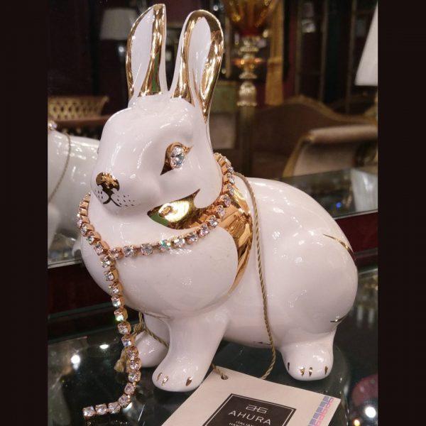 Статуэтка заяц с позолотой Ahura, артикул SR1432C/B1/AOLY