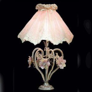 Настольная лампа в виде сердца с белым жемчугом и муранским стеклом, артикул TL3510/01NJF5FV