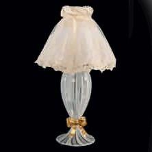 Настольная лампа в стиле Кантри Pataviumart со светлым абажуром, артикул TLM128/01AB20AI