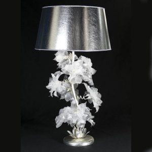 Настольная лампа Pataviumart с золотым абажуром и цветами из муранского стекла, артикул TLM830/01AI32