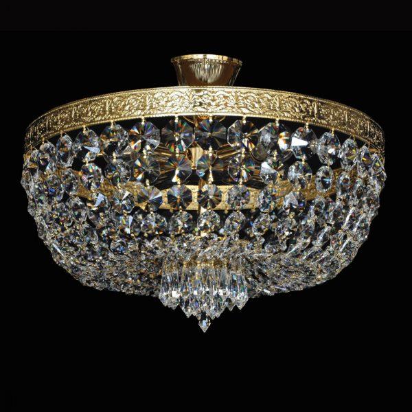 Потолочный светильник с бронзой и хрусталем Ramon Lozano, артикул 522/40 CUERO SAT